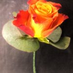 wired buttonhole, wedding flowers