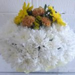 Massed posy, funeral tribute